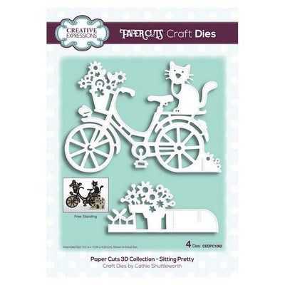 Creative Expressions - Paper Cuts 3D Collection - Sitting Pretty