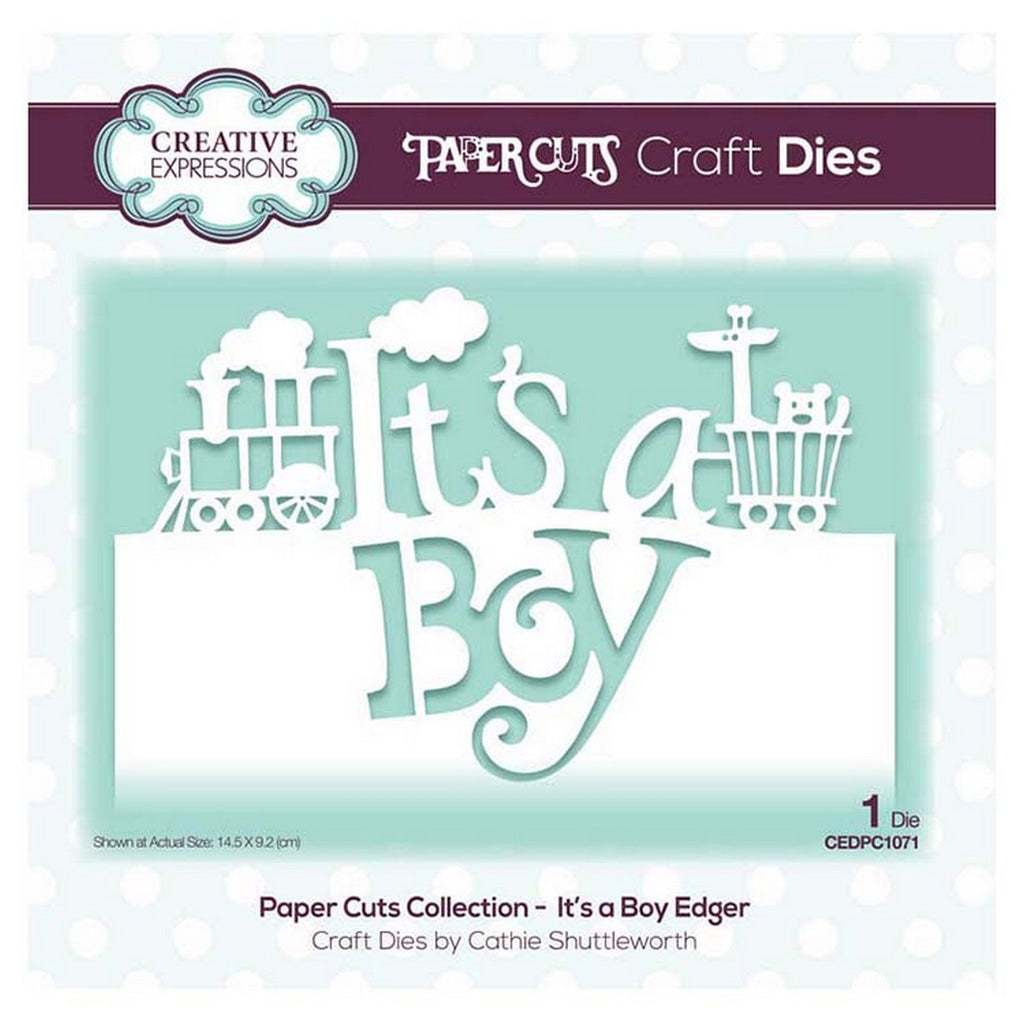 Creative Expressions - Paper Cuts Collection - It's a Boy Edger