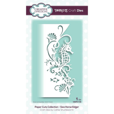 Creative Expressions - Dies - Paper Cuts Collection - Sea Horse Edger