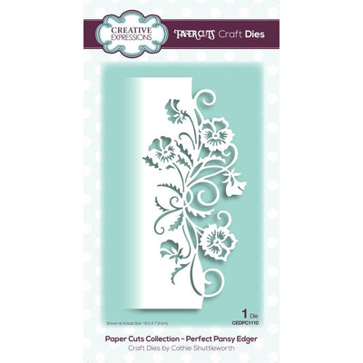 Creative Expressions - Dies - Paper Cuts Collection - Perfect Pansy Edger