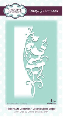 Creative Expressions - Dies - Paper Cuts Collection - Joyous Santa Edger