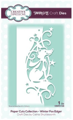 Creative Expressions - Dies - Paper Cuts Collection - Winter Fox Edger
