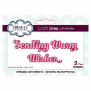 Sue Wilson Designs - Shadowed Sentiments Collection - Sending Warm Wishes
