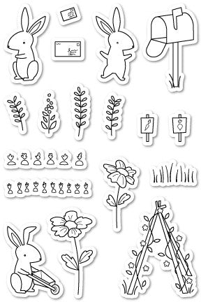 Poppystamps - Dies - Hop to It Clear Stamps