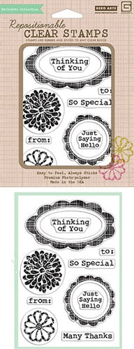 Hero Arts Stamps - Clear - Sweet Threads Labels