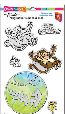 Stampendous - Stamp/Die Set - Monkey
