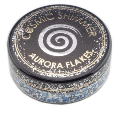 Cosmic Shimmer Aurora Flakes 50ml - Blue Ice