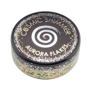 Cosmic Shimmer Aurora Flakes 50ml - Jade Gold