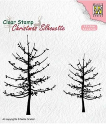 Nellie's Choice - Clear Stamp - Christmas Silhouette Leafless Trees