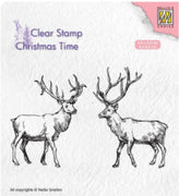 Nellie's Choice - Clear Stamp - Two Reindeer