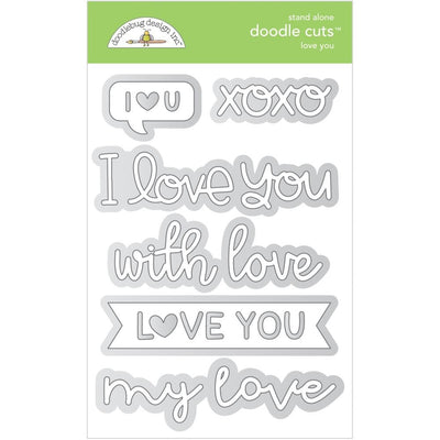 Doodlebug Designs - Dies - Love You