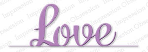Impression Obsession - Dies - Love Border Word