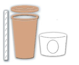 Impression Obsession - Dies - Takeout Coffee Cup