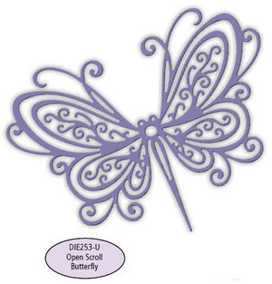 Impression Obsession - Dies - Open Scroll Butterfly