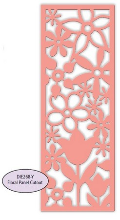 Impression Obsession - Dies - Floral Panel Cutout