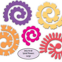 Impression Obsession - Dies - Spiral Flowers Large