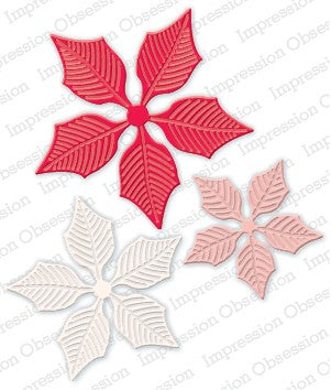 Impression Obsession - Dies - Poinsettia Set Large
