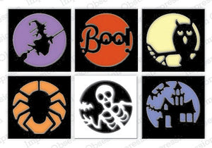 Impression Obsession - Dies - Halloween Cutout Circles