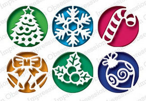 Christmas Cutouts.Impression Obsession Dies Christmas Circle Cutouts