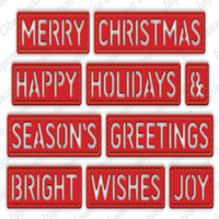 Impression Obsession - Dies - Christmas Stitched Words