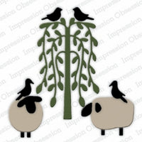 Impression Obsession - Dies - Sheep, Birds, & Tree