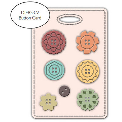 Impression Obsession - Dies - Button Card