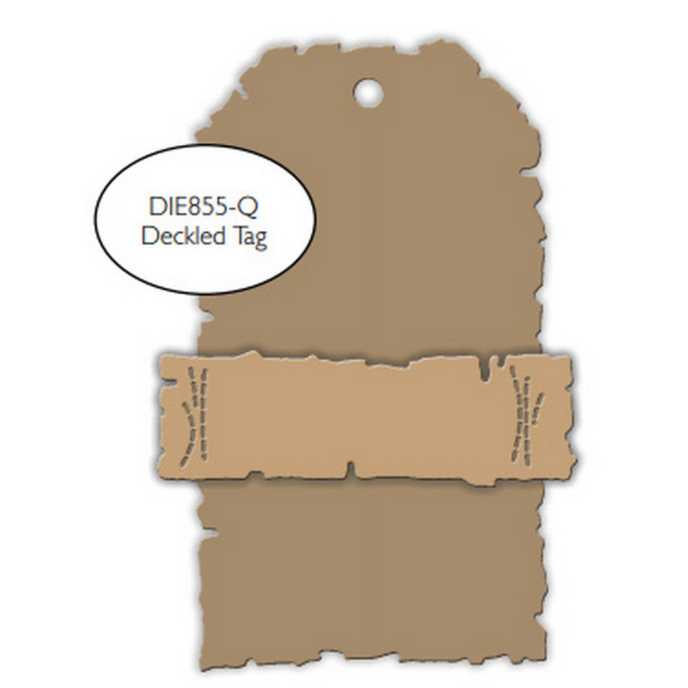 Impression Obsession - Dies - Deckled Tag