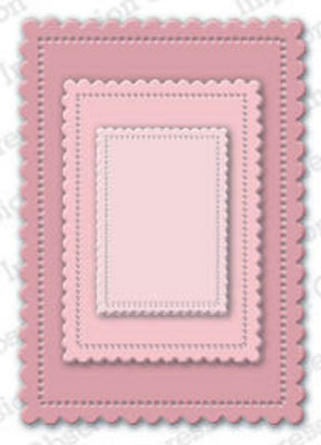 Impression Obsession - Dies - Cute Scalloped Rectangles