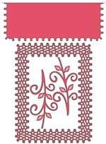 Cheery Lynn Designs - Japanese Lace & Flourish Frame W/ Angel Wing