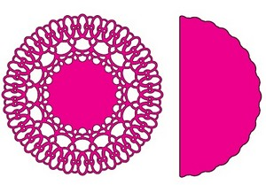 Cheery Lynn Designs - Chasing Rainbows Doily W/ Angel Wing
