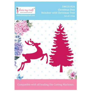 Dress My Craft - Dies - Reindeer With Christmas Tree