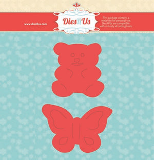 Dies R Us - Dies - Teddy Bear & Butterfly