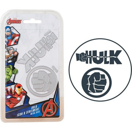 Marvel - Cutting Dies - Avengers - The Hulk Icon & Sentiment