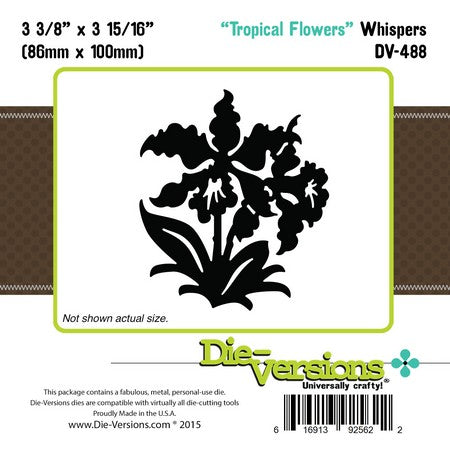 Die-Versions - Whispers - Tropical Flowers