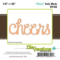 Die-Versions - Curly Words - Cheers
