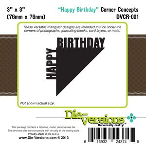 Die-Versions - Corner Concepts - Happy Birthday