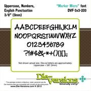 Die-Versions - Fonts - Marker Micro