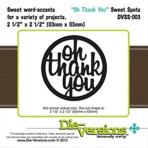 Die-Versions - Sweet Spots - Oh Thank You