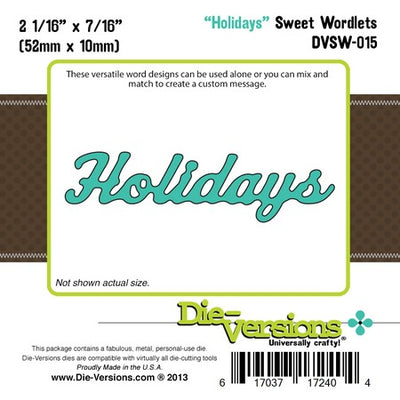 Die-Versions - Sweet Wordlets - Holidays