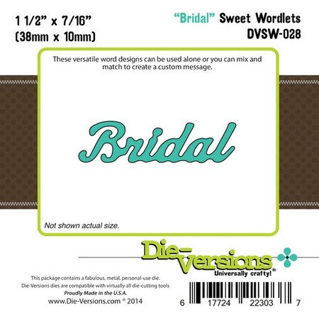 Die-Versions - Sweet Wordlets - Bridal