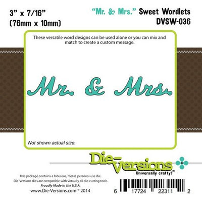 Die-Versions - Sweet Wordlets - Mr & Mrs