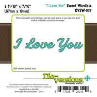 Die-Versions - Sweet Wordlets - I Love You