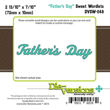 Die-Versions - Sweet Wordlets - Fathers Day