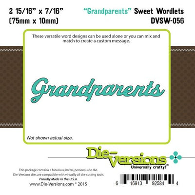 Die-Versions - Sweet Wordlets - Grandparents