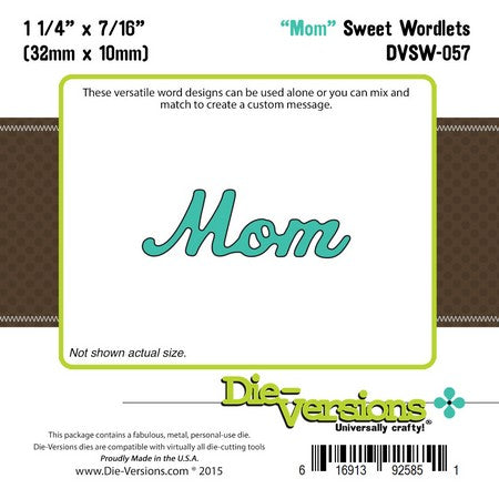 Die-Versions - Sweet Wordlets - Mom