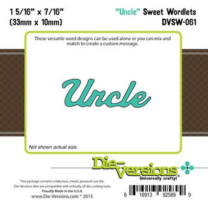 Die-Versions - Sweet Wordlets - Uncle