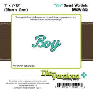 Die-Versions - Sweet Wordlets - Boy