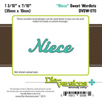 Die-Versions - Sweet Wordlets - Niece
