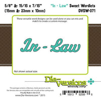 Die-Versions - Sweet Wordlets - In Law