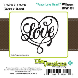 Die-Versions - Whispers - Fancy Love Heart